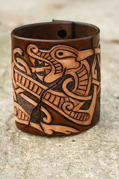 Viking Bracelet by darkagesleather1 on Etsy, £15.00
