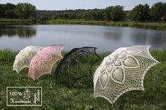 48 UMBRELLA PARASOL Lace Crochet Steampunk Goth Mothers by kolus79, $95.00
