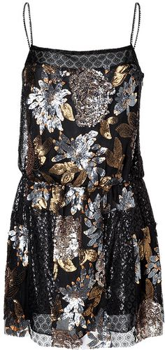 Anna Sui Black Nuits Dress