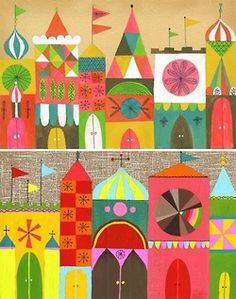 Mary Blair influenced illustrations by san francisco artist lisa congdon Art Doodle, Atelier D Art, Arte Popular, Illustrations And Posters, Children's Book Illustration, Teaching Art, Elementary Art, Art Lessons, Art For Kids