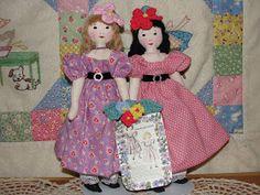 A Doll Shop of My Own: Belinda and Lucinda-Edith Flack Ackley pattern dolls Doll Clothes Patterns, Doll Patterns, Doll Shop, Sewing Dolls, Fabric Dolls, Rag Dolls, Doll Maker, Soft Dolls, Beautiful Dolls