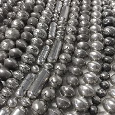 Silver Balls! Silver Balls! Vintage hand made sterling silver Navajo beads for the holidays!