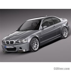 BMW M3 e46 CSL - 3D Model