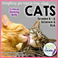 LOOKING FOR A DETAILED, EASY TO PREP, LIFE-SCIENCE UNIT ABOUT CATS???? This ones for you.   Its a great package containing lessons and activities about cats.This is a Science unit about cats which is designed to build Critical Thinking skills for all learners, and to work on increasing language and vocabulary, especially with ELL learners. $7.99