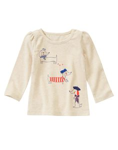 Puppy Tricks Long Sleeve Tee at Gymboree (Gymboree 3m-5T)