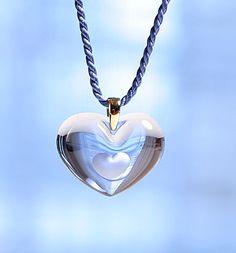 Lalique Tender Heart Gold Sapphire Necklace