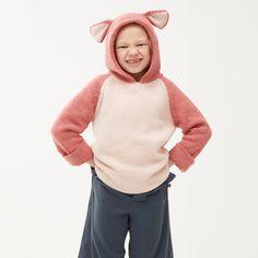 Hoodie dublat reversibil Oeuf baby alpaca - Pink Panter Kids Winter Fashion, Kids Fashion, Fall Winter, Winter Kids, Autumn, Pink Panter, Baby Alpaca, Turtle Neck, Hoodies