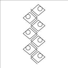 """Urban Elementz: Dominos - Stencil 5"""""""