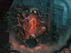 Legend Stories, Blood Art, Call Of Cthulhu, Fantasy Castle, Fantasy Setting, Flesh And Blood, Fantasy Landscape, Fantasy Artwork, Dark Fantasy