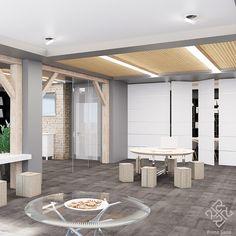 Начинаем обзор нашего дизайн-проекта офисного пространства с зоны общения с клиентами. Современный стиль выражен простыми геометрическими решениями, подчеркивающими функциональное зонирование пространства свободной планировки. Активное использование дерева в сочетании с ахроматической цветовой гаммой создают строгую деловую обстановку, что крайне важно для офисов. #Primogatto_interior_project #primogatto #дизайн #дизайнинтерьеров #interiors #interiordesign #офисы #дизайнофиса Pergola, Outdoor Structures, Outdoor Pergola