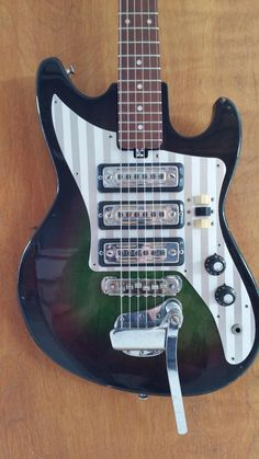 vintage 1960s red teisco del ray spectrum guitar 4 pickups teisco et 311 1965 green burst