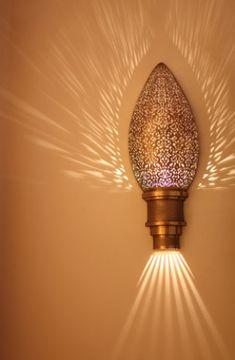 Our favorite Moorish Luxury Moroccan Sconce. #Moroccan #Luxury #Lighting www.mycraftwork.com