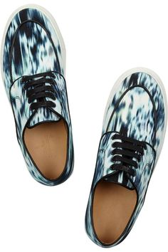 EUGÈNE RICONNEAUS Inez Printed Canvas Sneakers    $310 BUY ➜ http://shoespost.com/eugene-riconneaus-inez-printed-canvas-sneakers/ Handcrafted in France from durable canvas, Eugène Riconneaus' skater-inspired shoes are printed with a cool abstract pattern. The chunky rubber sole makes them perfect for running errands on off-duty days.
