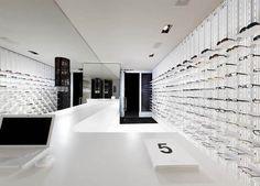 modern eyewear store interior