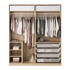 IKEA - PAX Wardrobe white stained oak effect, Nexus Vikedal Corner Wardrobe, Bedroom Wardrobe, Wardrobe Closet, Built In Wardrobe, Dombas Wardrobe, Wardrobe Dresser, Wardrobe Furniture, Sliding Wardrobe, Organiser Son Dressing