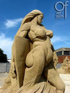 Sexy girl, Sand sculpture made in Denmark, 2009, author ( Uldis Zarins ) www.artofuldis.com