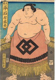 Sumou japanese print by oshiiku