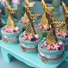 23 Clever DIY Christmas Decoration Ideas By Crafty Panda Mermaid Birthday Cakes, Mermaid Cakes, Cake Birthday, Mermaid Party Decorations, Birthday Party Decorations, 9th Birthday Parties, Little Mermaid Parties, Mermaid Diy, First Birthdays