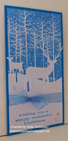 Love this tall and skinny gorgeous Christmas scene. Handmade by Ankes from Ankes Stempelwelt