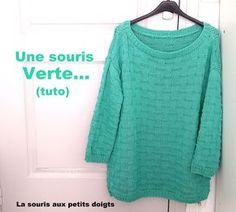 Knitting Patterns Free, Free Pattern, Knitting Yarn, Turtle Neck, Couture, Pullover, Stitch, Womens Fashion, Cotton