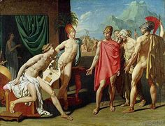 Jean-Auguste-Dominique+Ingres+-+Ambassadors+Sent+by+Agamemnon+to+Urge+Achilles+to+Fight,+1801