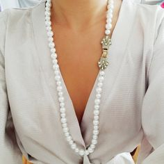 Hey, I found this really awesome Etsy listing at https://www.etsy.com/listing/244831214/pearl-art-deco-necklace-flapper