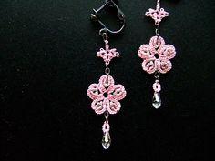 Cherry Blossom earrings met patroon