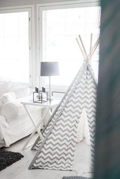 Playtent / Living Room / Kids nooraandnoora.com Nordic Interior, Interior And Exterior, Room Kids, Scandinavian Style, Finland, Houses, Living Room, Blog, Inspiration
