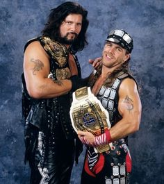 Big Daddy Cool Diesel and Shawn Michaels - 2 dudes with serious attitudes!