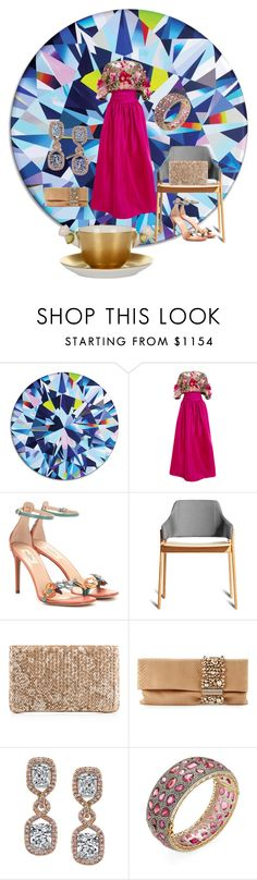 """""""Untitled #587"""" by aifosbr ❤ liked on Polyvore featuring interior, interiors, interior design, home, home decor, interior decorating, Takeru Amano, Marchesa, Valentino and Christian Louboutin"""