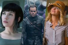 #ScarlettJohansson in #GhostintheShell , #MattDamon in The #GreatWall and #EmmaStone in #Aloha