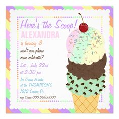 Download Now Ice Cream Birthday Invitations Ideas Free Invitation Templates Party