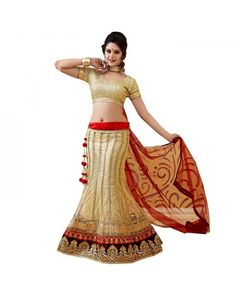 Golden Resham Embroidery Lehenga Now @Rs.6,111 60% OFF   To Buy Click Here:- http://www.ethnicstation.com/golden-resham-embroidery-lehenga-rc5511  #EmbroideredLehenga #EthnicWear