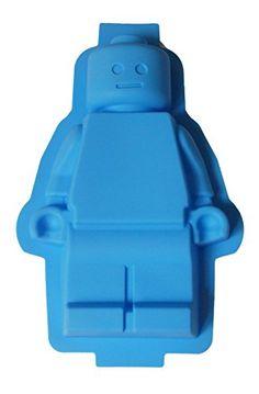 Hellblaue Legofigur aus Silikon für Kuchen GerMax-Toys…