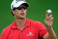 Adam Scott of Australia waves to fans on the 18th hole after finishing with an 8-under-par 62 during the first round of the World Golf Championships-Bridgestone Invitational on the South Course at Firestone Country Club on August 4, 2011 in Akron, Ohio.