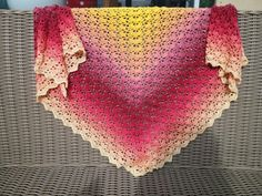 Made from Scheepjes Whirl Fruity O Tutty Crochet Poncho, Crochet Scarves, Crochet Clothes, Caron Cakes, Crochet Wraps, Prayer Shawl, Crochet Woman, Shawls And Wraps, Crochet Projects