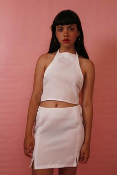 white halter neck top 〰 £18 〰 white skirt 〰 £22 〰 BUY BOTH FOR £28 〰 to buy email me at jjcclothing@hotmail.com 〰 all payments go through paypal 〰 instagram @J.J.CCLOTHING