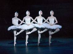 Swan Lake-English National Ballet. Every ballerina learns the dance of the Little Swans sometime in her training.