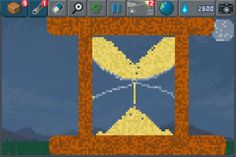 A Sand Timer  #pixelart #sandbox #pixel #art #ios #iphone
