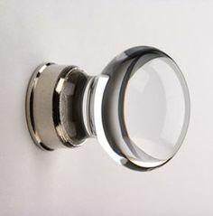 Clear Bohemian crystal cupboard knobs, Glass & ceramic knobs, Cupboard knobs & handles, Door furniture & ironmongery, Holloways of Ludlow