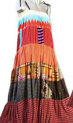 Patchwork Spaghetti Strap Maxi Dress | HIPPIE CLOTHING | 80% Sale HIPPIE CLOTHING Now!! on HIPPIEUP.com