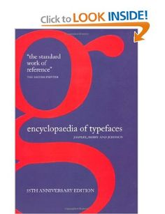 Encyclopaedia of Typefaces: Berry and Johnson Jaspert: 9781844036707: Amazon.com: Books