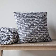 Gallery Direct Arcos Knitted Cushion Grey 40cm