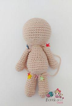 Crochet body - Amigurumi for Beginners 💖💖💖 PART 1 - Crochet bonek Crochet Bobble, Crochet Squares, Love Crochet, Crochet Toys, Crochet Dolls Free Patterns, Crochet Doll Pattern, Amigurumi Patterns, Amigurumi Doll, Crochet Bodies