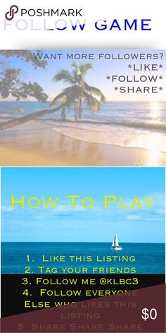 ⛵️Want More Followers? New Follow Game! ⛵️Follow Game⛵️ Like this listing  Follow me, and everyone else who likes this listing  Tag your friendsShare this listing Other