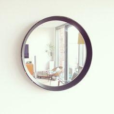 Vintage Spiegel schwarz von LeFlair auf Etsy
