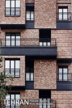 modern brownstone with brick facade - Bing images Brick Design, Facade Design, Building Facade, Building Design, Architecture Design, Modern Residential Architecture, Minimalist Architecture, Brickwork, Facade House