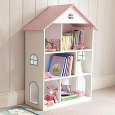 Makes a good bookcase once it's finished being used as a doll house! Sunroom Furniture, Cute Furniture, Girls Bedroom Furniture, Kids Bedroom, Bookshelves In Bedroom, Bookshelves Kids, Dollhouse Bookcase, Ikea Dollhouse, Wooden Dollhouse
