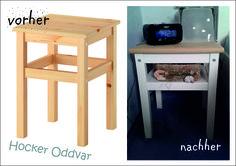 ikea hack oddvar bedside table with shelf home office. Black Bedroom Furniture Sets. Home Design Ideas