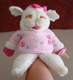 Vintage Shari Lewis Baby Lamb Chop Plush Hand Puppet with Pacifier Binkie Girl…